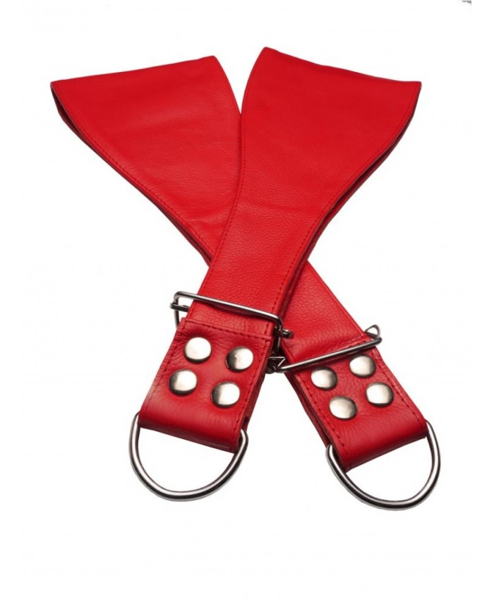 Leather Boot Restraints  Red