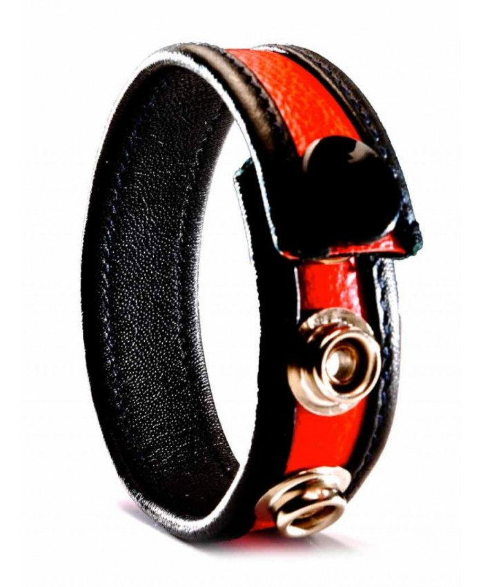 Leather Cock Strap  Red